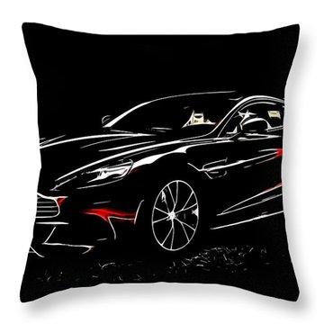 2013 Aston Martin Vanquish Throw Pillow