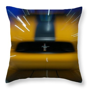 2013 Ford Mustang Throw Pillow by Randy J Heath