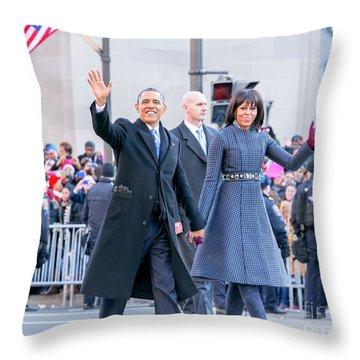 2013 Inaugural Parade Throw Pillow by Ava Reaves