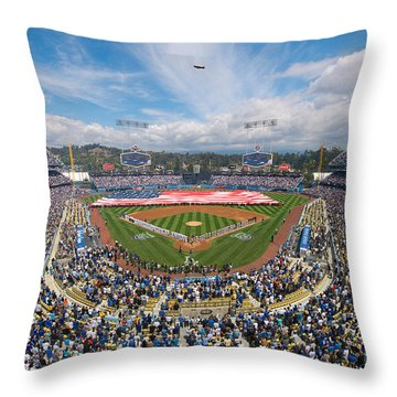 2013 Los Angeles Dodgers Season Opener Throw Pillow
