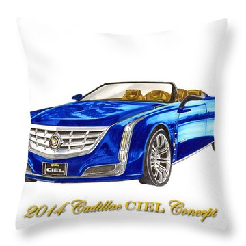2014 Cadillac Ciel Concept Throw Pillow by Jack Pumphrey