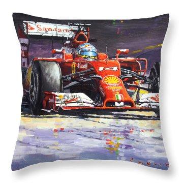 2014 Ferrari F14t Fernando Alonso  Throw Pillow
