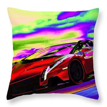 2014 Lamborghini Veneno Roadster Abstract Throw Pillow