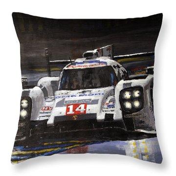 2014 Le Mans 24 Porsche 919 Hybrid  Throw Pillow