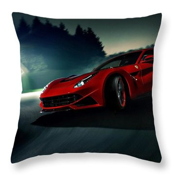 2014 Novitec Rosso Ferrari F12 Berlinetta N Largo Throw Pillow