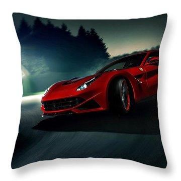 2014 Novitec Rosso Ferrari F12 Berlinetta N Largo Throw Pillow by Movie Poster Prints