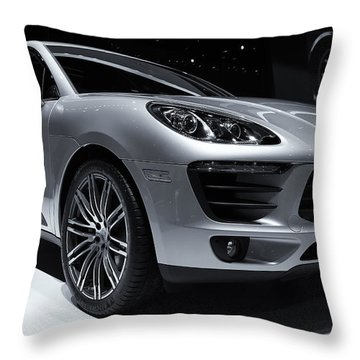 2014 Porsche Macan Throw Pillow