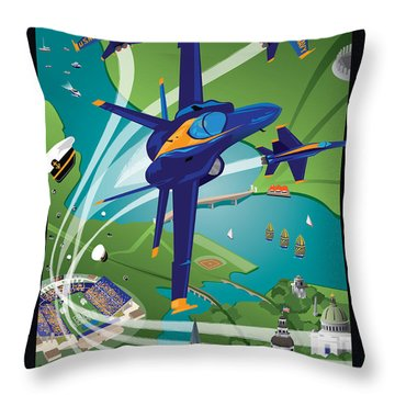 2014 Usna Commissioning Week Throw Pillow