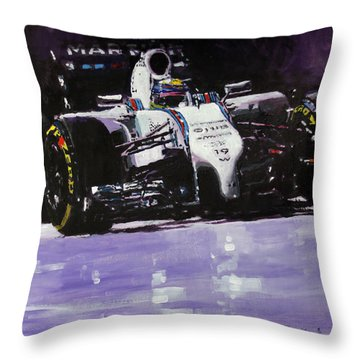2014 Williams F1 Team Fw 36 Felipe Massa  Throw Pillow
