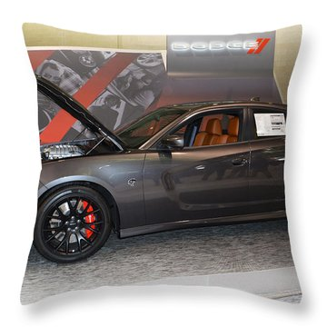 2015 Dodge Charger Srt Hellcat Throw Pillow