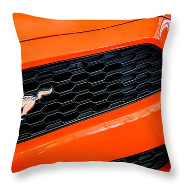2015 Ford Mustang Prototype Grille Emblem -0092c Throw Pillow by Jill Reger