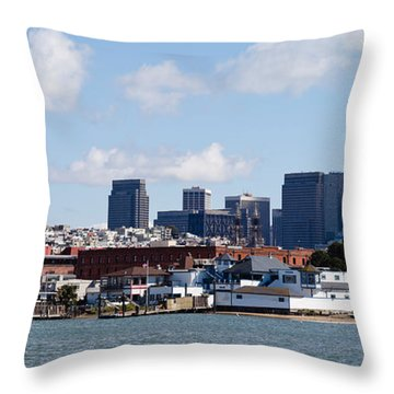 Buildings At The Waterfront Throw Pillow