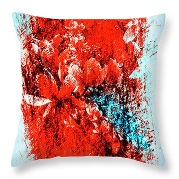 Magnolia In Abstract Throw Pillow