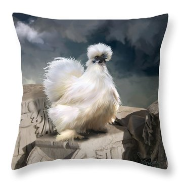 21. Silkie Akropolis Throw Pillow
