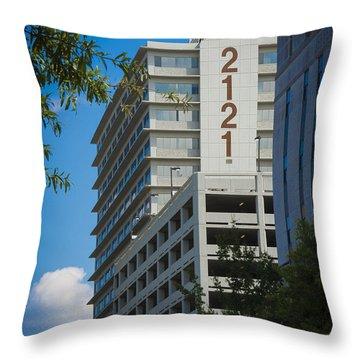 2121 Building Throw Pillow