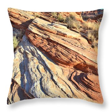 Valley Of Fire Throw Pillow by Ray Mathis
