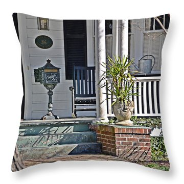 Throw Pillow featuring the photograph 216 Hampton by Linda Brown