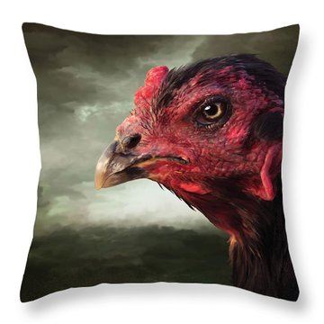 22. Game Hen Throw Pillow