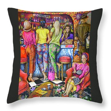 Shop Talk Throw Pillow by Linda Simon