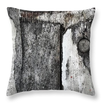 Wood On The Wall Throw Pillow