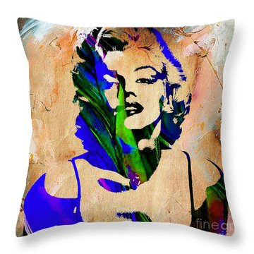 Marilyn Monroe Throw Pillow by Marvin Blaine