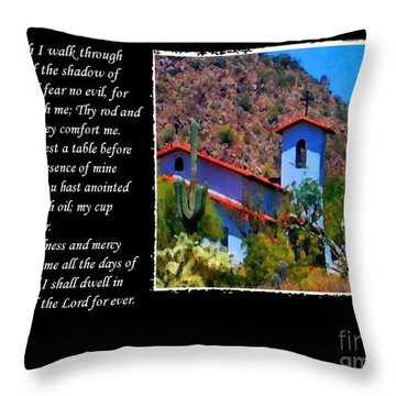 Throw Pillow featuring the photograph 23 Psalm by Ruth Jolly