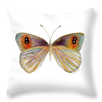24 Argyrophenga Butterfly Throw Pillow by Amy Kirkpatrick