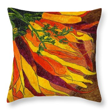 24 Carrots Gold Throw Pillow