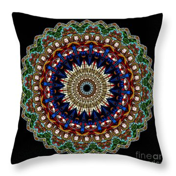 Kaleidoscope Stained Glass Window Series Throw Pillow by Amy Cicconi