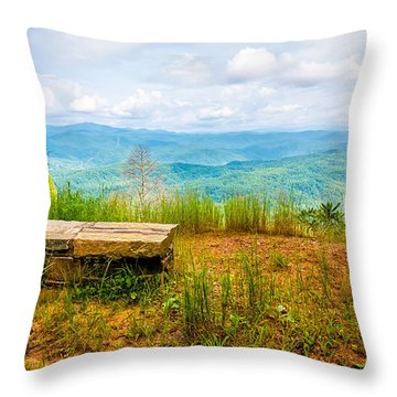Scenery Around Lake Jocasse Gorge Throw Pillow
