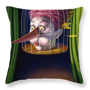 24th Annual Waxdeck's Bird Calling Contest Throw Pillow