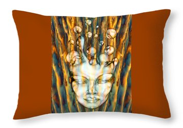 24x36 Slow Boil 117 Throw Pillow by Dia T