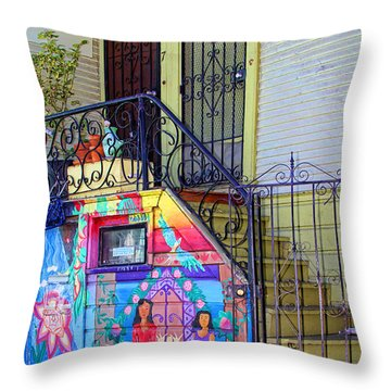 25 Balmy Alley San Francisco Throw Pillow