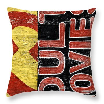 25 Cents Abstract Throw Pillow
