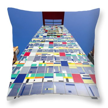 Modern Office Building Throw Pillow by Hans Engbers