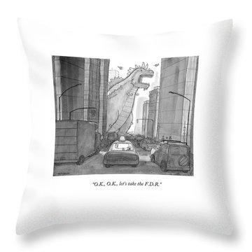 O.k., O.k., Let's Take The F.d.r Throw Pillow