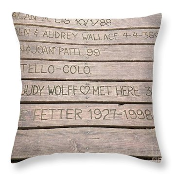 Throw Pillow featuring the photograph 25th Anniversary by Judy Via-Wolff