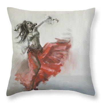 Belly Dancer 4 Throw Pillow