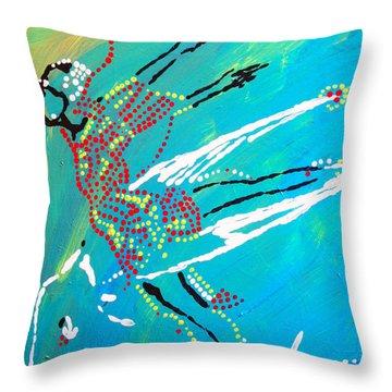 Dinka Dance - South Sudan Throw Pillow by Gloria Ssali