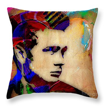 James Dean Collection Throw Pillow by Marvin Blaine