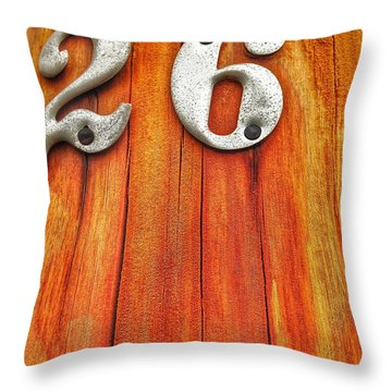 26 Tin On Wood Throw Pillow by Olivier Calas