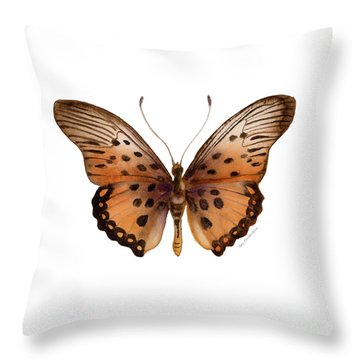26 Trimans Butterfly Throw Pillow by Amy Kirkpatrick