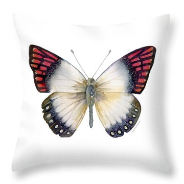 27 Magenta Tip Butterfly Throw Pillow