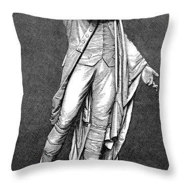 Marquis De Lafayette Throw Pillow by Granger