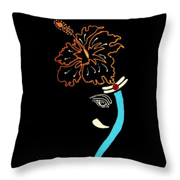 27 Mundakarama Ganesh Throw Pillow