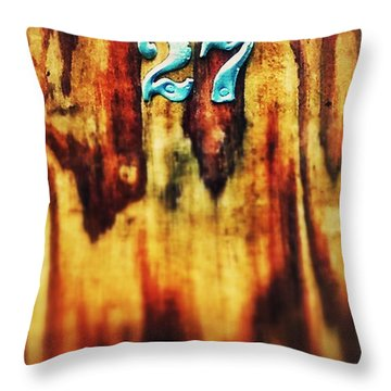 27 On Wood Throw Pillow by Olivier Calas