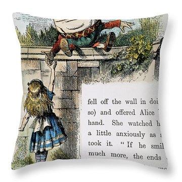 Carroll: Looking Glass Throw Pillow by Granger