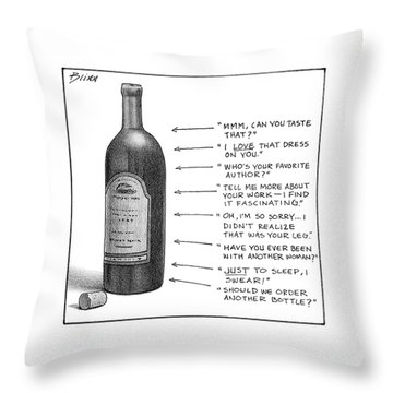 New Yorker February 19th, 2007 Throw Pillow
