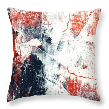 Moving On - Contemporary Abstract Painting Throw Pillow