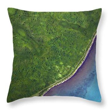 Iceland Aerial Photo Throw Pillow by Gunnar Orn Arnason